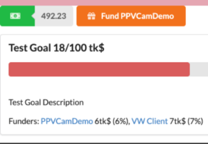 Donations, Goals or Crowdfunding can be enabled on any content page. Donation goal will show progress and crowdfunding will list all contributors and percent of current amount.